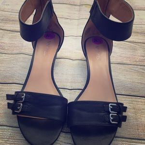 Nine West Black Sandals Size 8 1/2